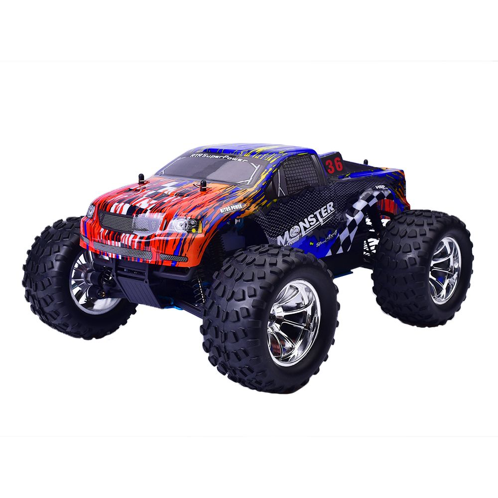 HSP 94188 Rc Racing Car 1/10 Scale Nitro Power 4wd Off Road Monster Truck Pivot Ball Suspension Two Speed Remote Control Car