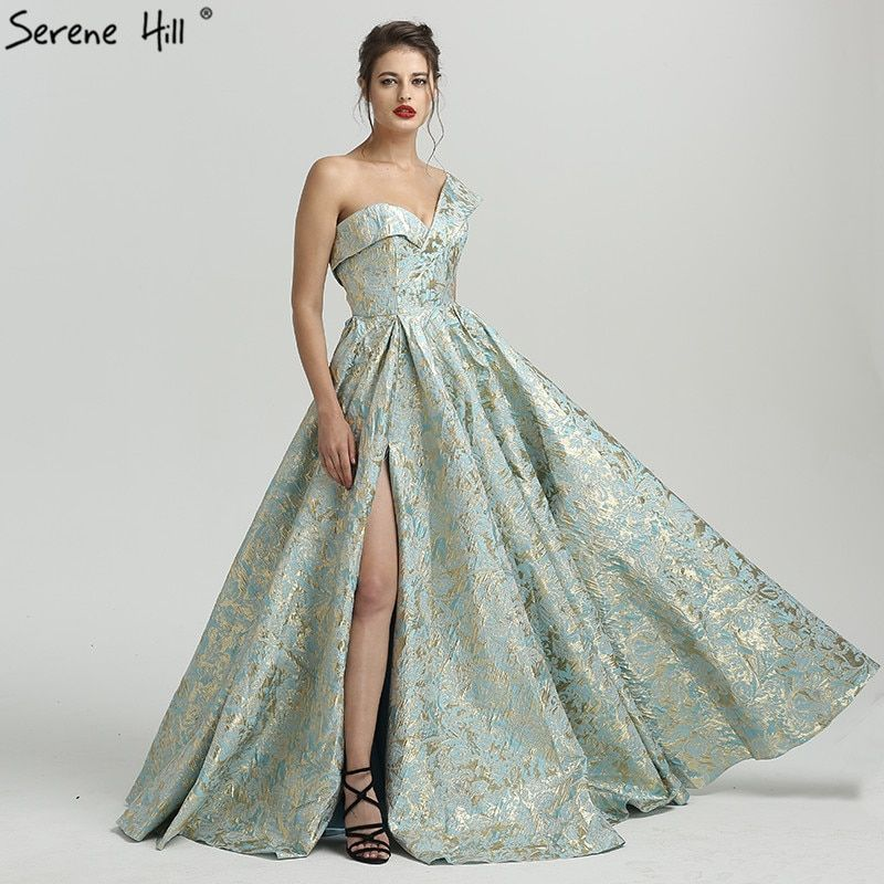 Sexy Duabai One Shoulder 3D Printing Formal Evening Prom Party Gown Dress Gowns Dresses 2018 BLA6486