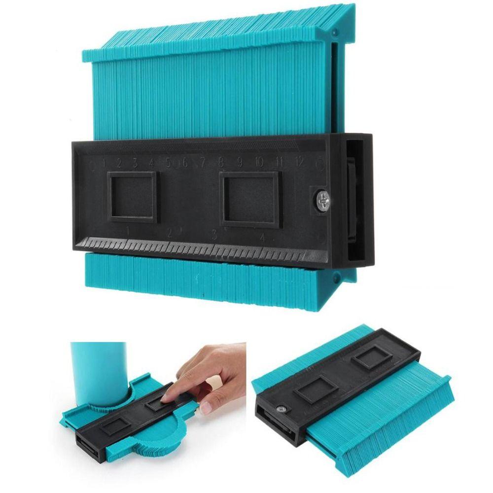 5inch Contour Profile Gauge Tiling Laminate Tiles Edge Shaping Wood Measure Profile Ruler Contour Gauge Duplicator Dropshipping