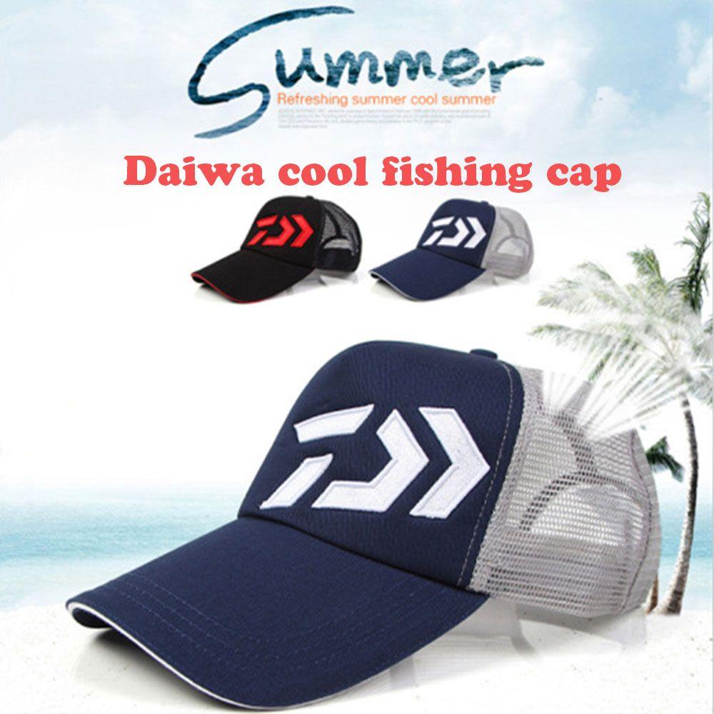 Daiwa Outdoor mesh wicking fishing hat Camping Hiking Hunting Fishing Outdoor New summer fishing sun hat