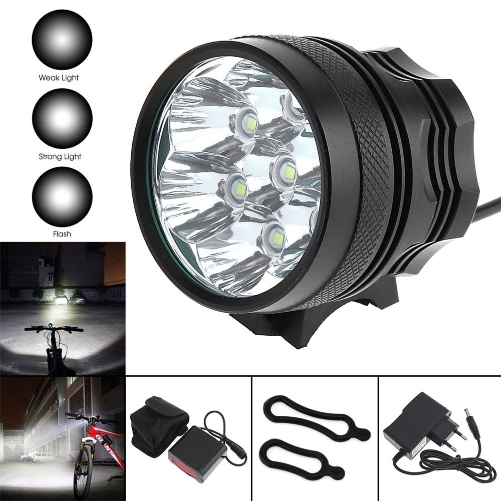 Sales SecurityIng 3500Lm 7 x LB-XL T6 LED Bright Bicycle Light + 8000mAh Battery Pack
