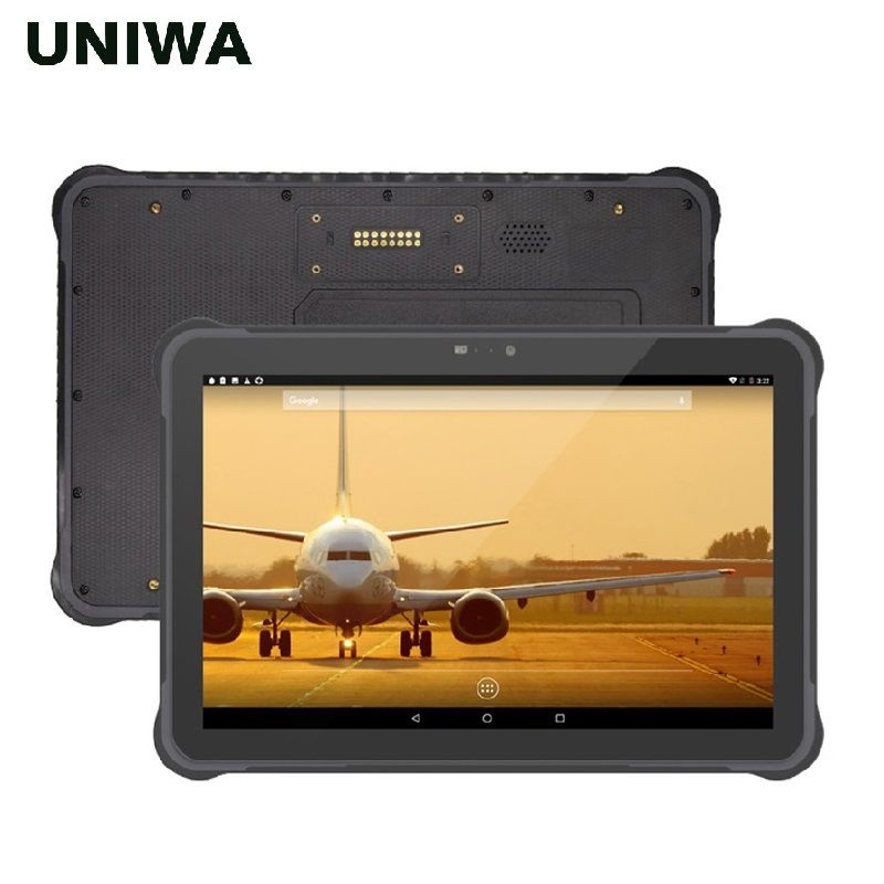 UNIWA T11 IP67 Wasserdichte Handy Robuste Tablet Android 7.0 RJ45 Port Hot-swap batterie 10,1 zoll NFC Outdoor Tablet PC