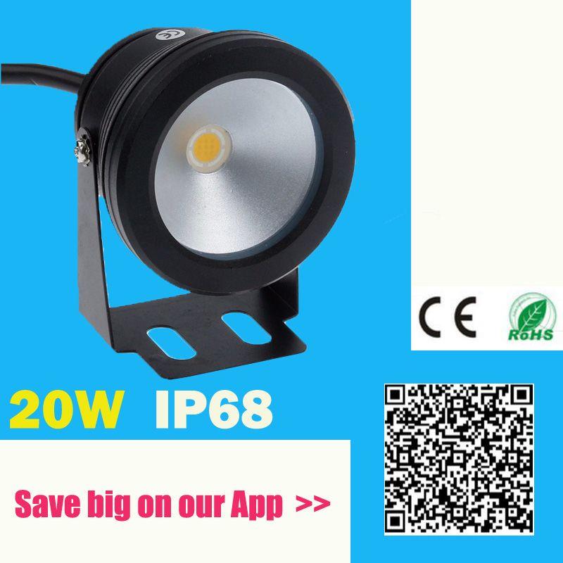 IP68 Étanche 20 W 12 V LED Sous-Marine Fontaine Lumière 1000LM Piscine chaud froid Étang Fish Tank Aquarium LED lumière Lampe