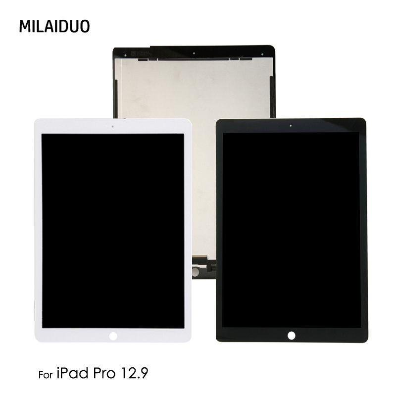 Orig Ersatz Für iPad Pro 12,9 zoll A1652 A1584 LCD Display Touchscreen Digitizer Montage mit/keine Kleine Bord schwarz Weiß