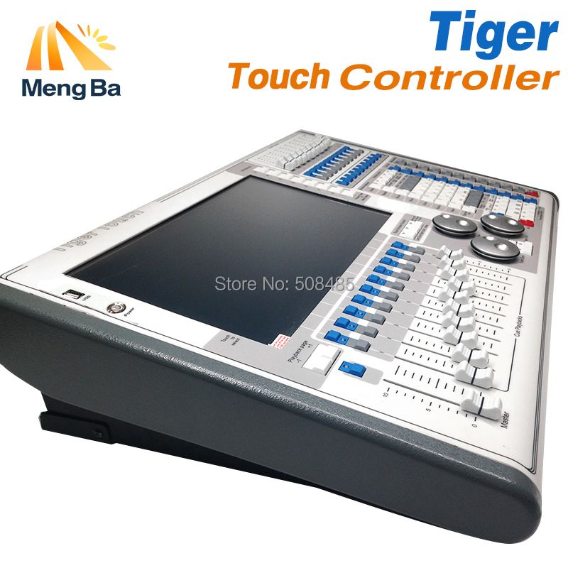 Digitale Tiger Touch Titan 11/10. 1/10. 0/V Screen DMX Beleuchtung Konsole Controller Für Bühnen Beleuchtung DJ ausrüstung mit Flug Fall