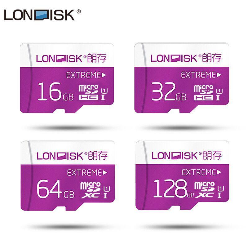 Londisk Micro SD Carte 8 gb 16 gb 32 gb 64 gb 128 gb Class10 UHS-1 Flash Carte Mémoire MicroSD TF Carte pour Smartphone Pad Caméra