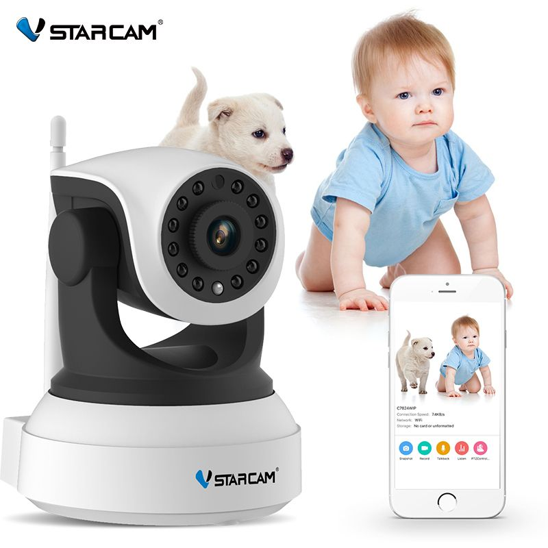VStarcam 720P Wifi Security IP Camera Onvif IR Night Vision Audio Recording Surveillance Wireless HD IP Camera C7824WIP