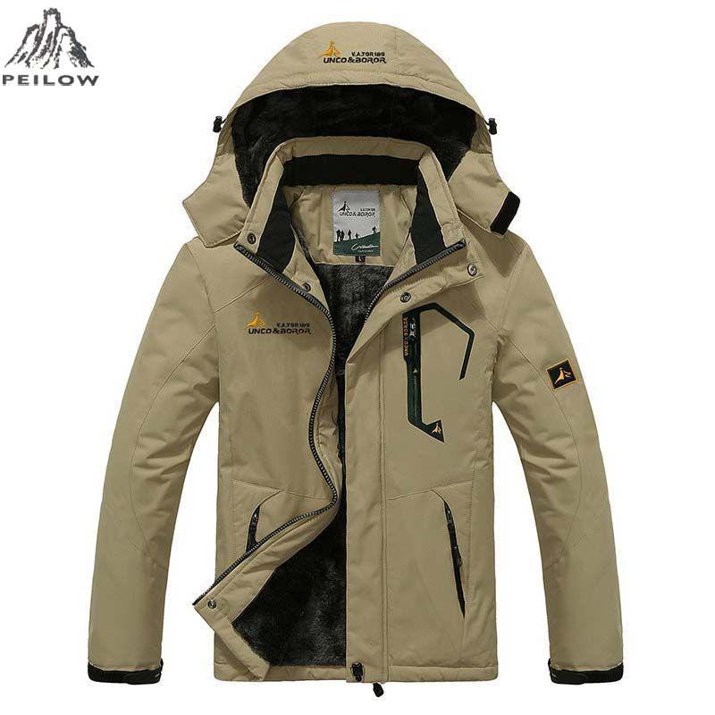 PEILOW Plus size 5XL,6XL <font><b>outwear</b></font> winter coat men and women`s thicken waterproof fleece warm cotton parka coat men jacket