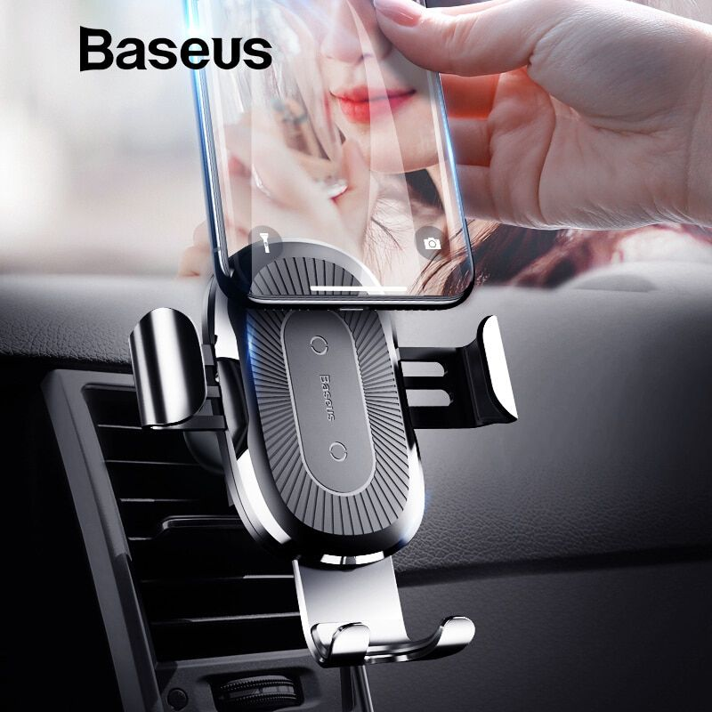 Baseus Qi Car Wireless Charger For iPhone X XS Max XR 8 Samsung Mobile Phone Holder 10W Fast Wireless Car Chargeing Mount Holder