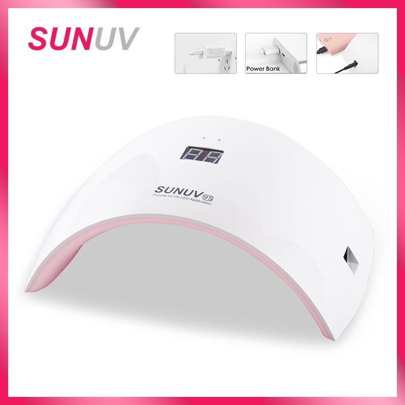 SUNUV SUN9s Nail Lampe 24 W lampe uv led séchoir d'ongles avec usb câble de charge manucure professionnelle Lampe Pour Mains et Des Pieds