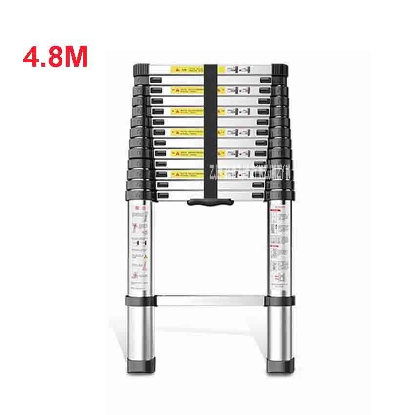 4,8 meter DLT-A Verlängerung Leiter Aluminium Legierung Verdickt Gerade Leiter einseitig Leiter 14-schritt Folding Engineering Leiter