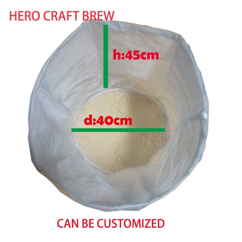 45*40 cm Ttpe 5 gallons brew à la maison filtre sac à mailles fines de qualité alimentaire purée filtre sac pour lot homebrew filtre sac seau