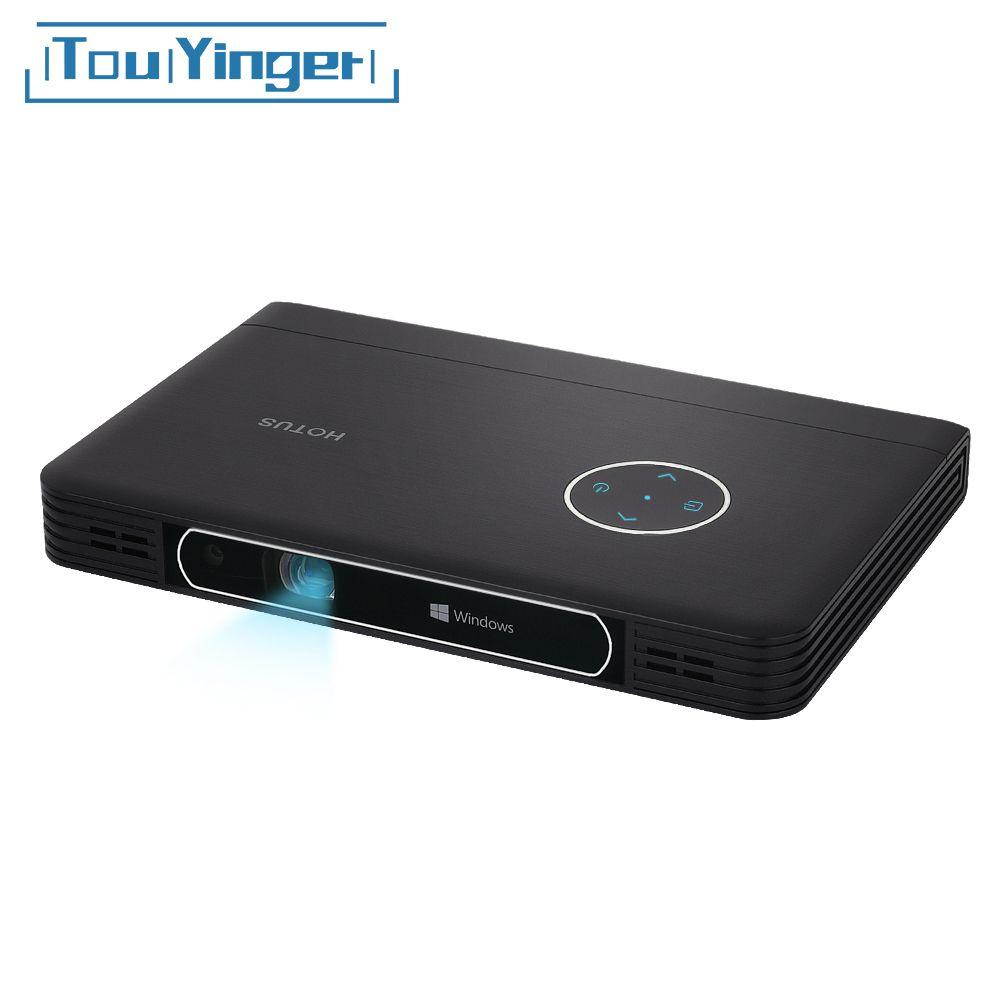 Touyinger W7 Fenster 10 Computer Projektor unterstützung Full HD Video DLP Mini Tragbare WiFi Bluetooth Batterie Einsatz Für Business Büro