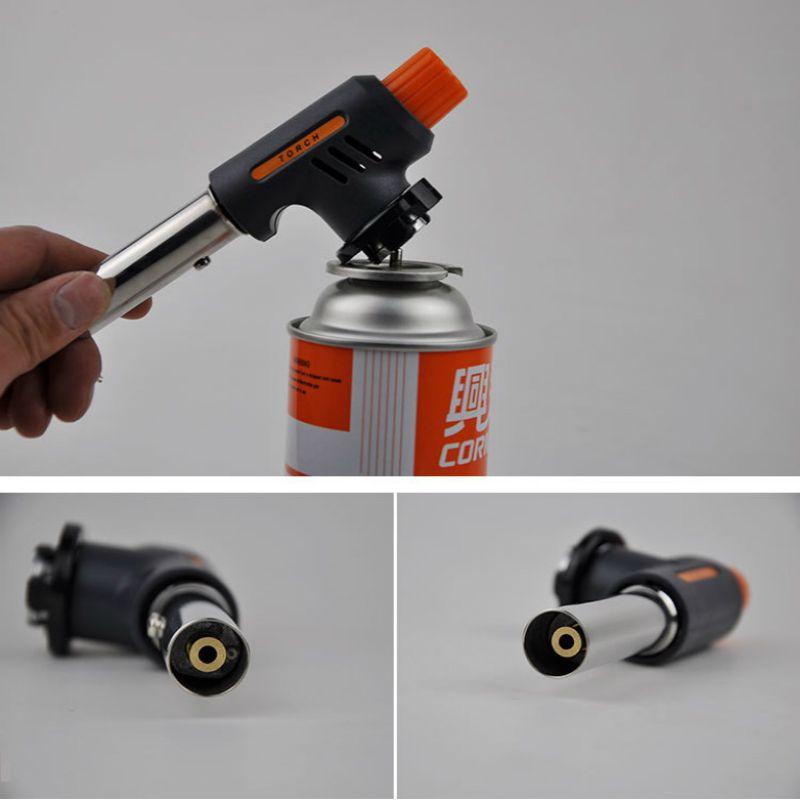 Gas Torch Flamethrower Butane Burner Automatic Ignition Baking Welding BBQ Camping Outdoor Hiking Flame Gun