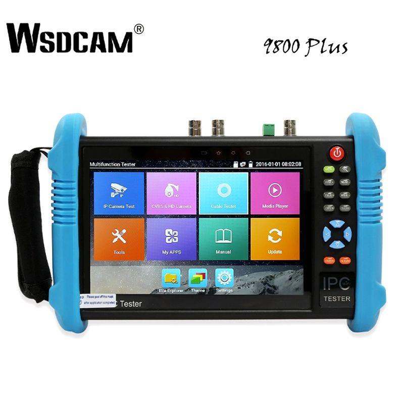 9800 Plus 7 Inch IP Kamera Tester CCTV Tester CVBS Analog Kamera Tester mit POE/WIFI/4 K h.265/HDMI Ausgang/RJ45 TDR/ONVIF