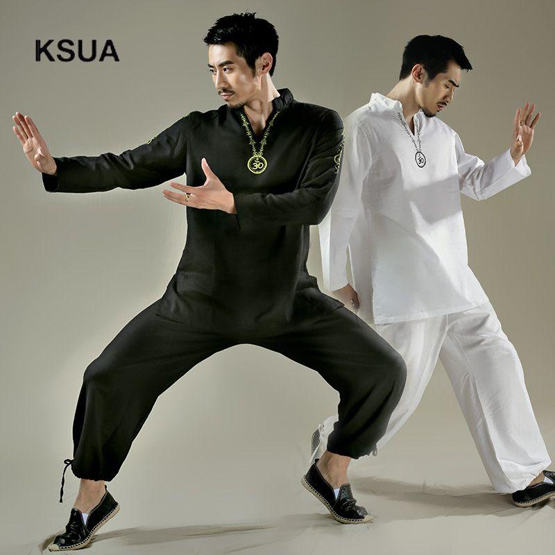Yoga Shirt Pants Zen Meditation Kong Fu Clothing Man Sportswear Set Large Size Gym Yoga Suit Shirt Pants Tracksuit Yoga Set