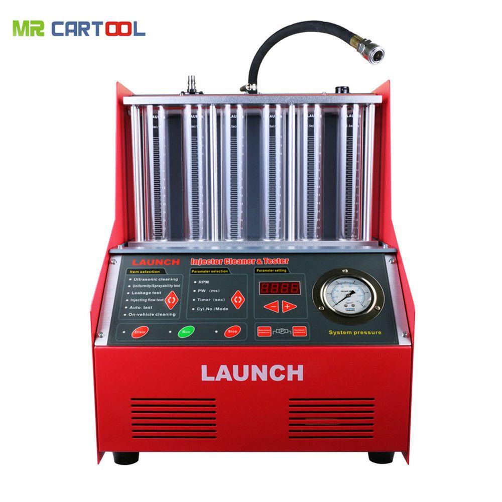 Starten CNC602A Auto Kraftstoff Injektor Reinigung Maschine Ultraschall KRAFTSTOFF Injektor Reiniger Tester Waschen Werkzeug 6 Zylinder DHL Für Atuo