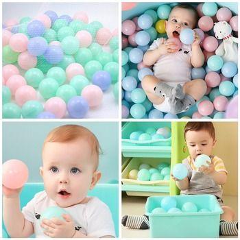 25/50/100 шт Эко-дружественных красочный Пластик мяч надувные игрушки океан шариков для бассейна детский бассейн игрушка стресс воздушный шар ...