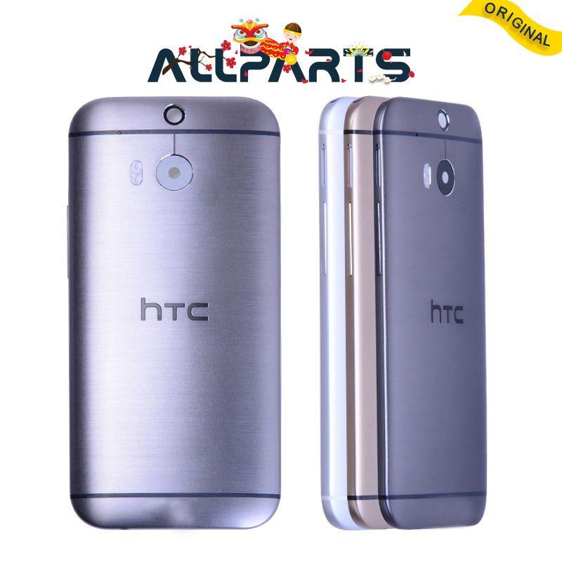 Avec NFC D'origine Couvercle De La Batterie Pour HTC One M8 Retour Logement cas avec Volume Bouton D'alimentation Caméra Lentille 831C Noir Argent Or