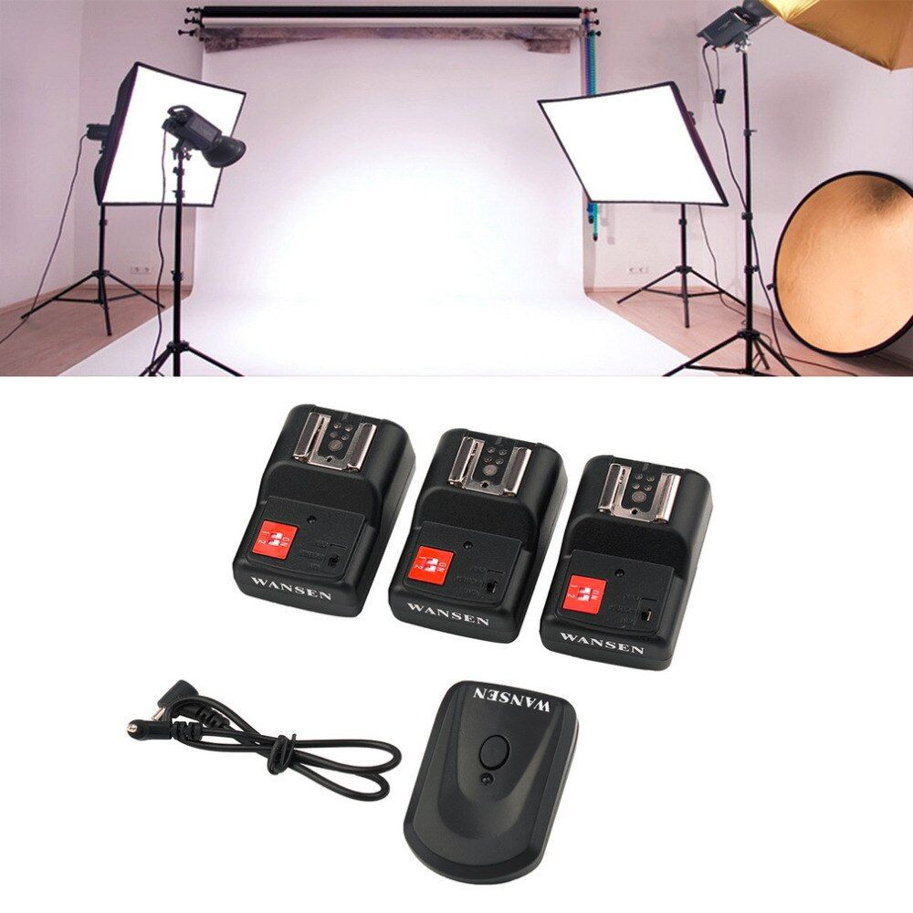 PT-04 GY 4 Channels Wireless/Radio Flash Trigger SET with 3 Receivers Wholesale dropshipping