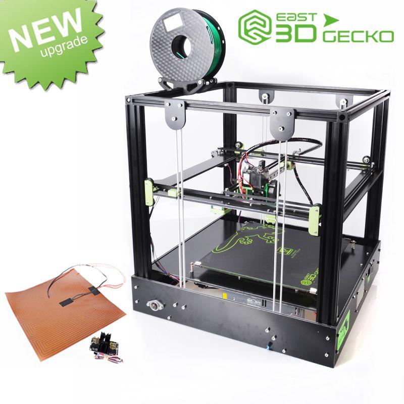 East 3D Imprimante East 3D Gecko Core XY Structure DIY Kit avec chaleur lit grande taille d'impression avec clone Titan extrudeuse 3D imprimante