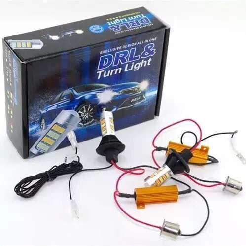 LEADTOPS T20 Led 42 Licht High Power Tagfahrlicht + Blinker DRL Dual Modus 1156 T20 7440 WY21W LED Laufen Lampen BD