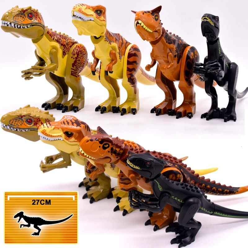 Brutal Raptor Building Jurassic Blocks World 2 MINI Dinosaur Figures Bricks Dino Toys For Children Legoed Dinosaurios Christmas