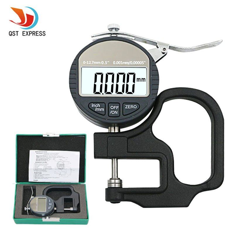 0.001mm Electronic Thickness Gauge 10mm Digital Micrometer Thickness Meter Micrometro Thickness Tester With RS232 Data Output