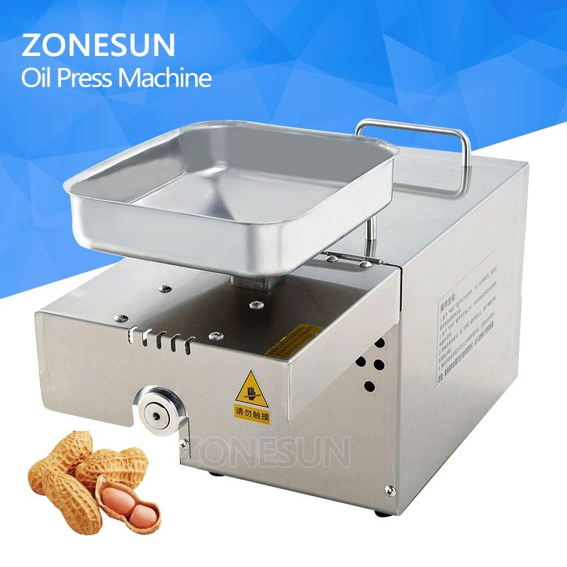 ZONESUN Stainless Steel Oil Press Machine Commercial Home Oil Extractor Expeller Presser 110V or 220V Available