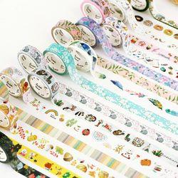 1 pcs Washi Tapes DIY Japanese Paper Cartoon Flower Masking tape Decorative Adhesive Tapes Scrapbooking Stickers