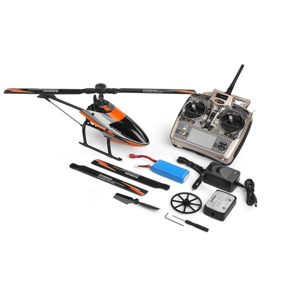 WLtoys V950 2.4G 6CH 3D/6G RC System switched freely High efficiency Brushless Motor RTF RC Helicopter Stronger Wind Resistance