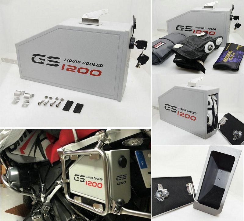 Für BMW R1200GS LC Abenteuer tool box 2013-2018 dekorative Aluminium werkzeug box 5 liter für links hand halterung r1200gsa 14-18