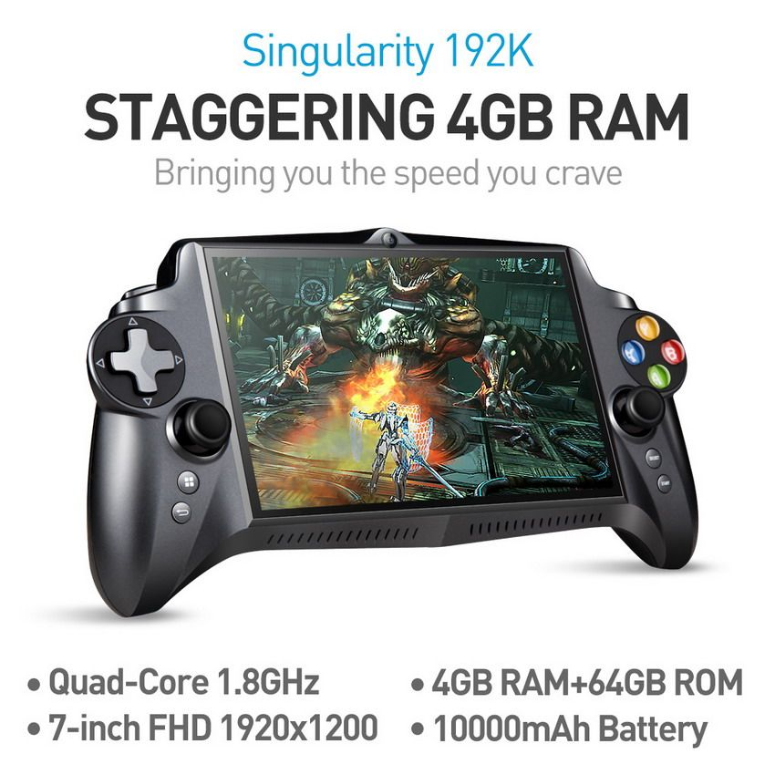 Jxd s192k 7 pulgadas 1920x1200 Quad Core 4g/64 GB nuevo GamePad 10000 mAh Android 5.1 tablets PC consola de videojuegos 18 simuladores/PC juego