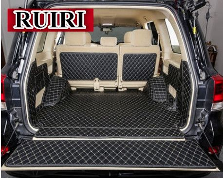 Free shipping! Full set trunk mats for Toyota Land Cruiser 200 5 seats 2018-2010 waterproof cargo liner boot carpets for LC200