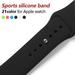 Colorido Suave Silicone Banda Esporte Para 38mm Relógio Maçã Series4 3 42mm Pulseira Pulso Esportes Cinta Para iWatch edição de Substituição