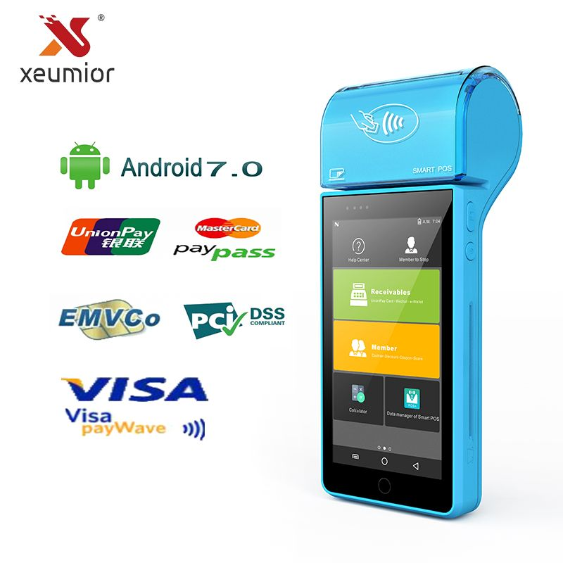 Android Mini Tragbare Mobile Pos Thermodrucker Handheld POS-Terminal Drahtlose Bluetooth Wifi Android Geräte