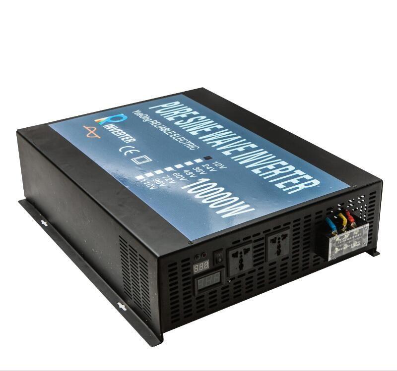 Pure Sine Wave Solar Inverter Generator 24V 230V 10000W Power Inverters Converters 12V/24V/48V DC to 120V/220V AC Remote Control