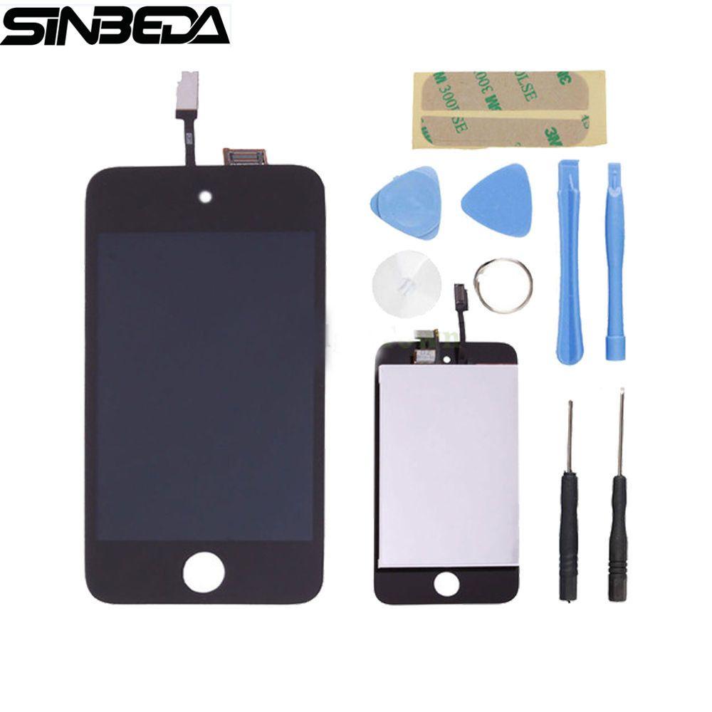Sinbeda Remplacement Pour ipod touch 4 4G écran lcd et écran tactile digitizer assemblée Livraison D'ouverture Outils + adhésif LCD Écran