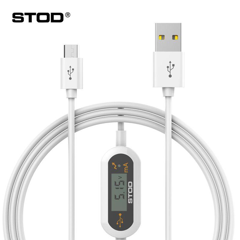 BTOD Micro USB Câble LED Moniteur Tension Courant 2A Rapide Charge Protéger Pour Samsung Lenovo Huawei ZTE Xiaomi Chargeur Détecter fil