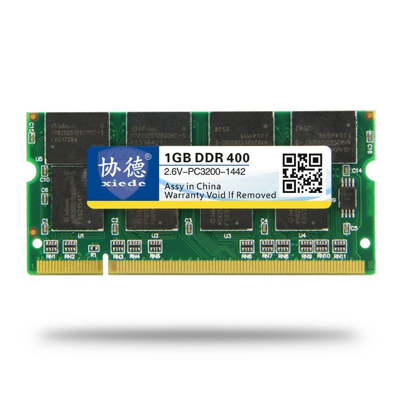 XieDe Laptop-speicher Ram SO-DIMM DDR1 DDR 400 333 MHz/PC-3200 PC-2700 200 Pins 512 MB 1 GB Für Sodimm Notebook Memoria Rams