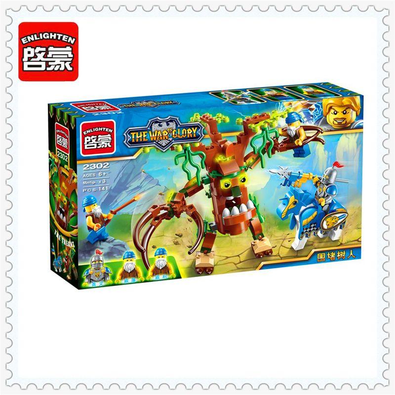 War Of Glory Castle Knight Defend Model Building Block Toys Compatible Legoe ENLIGHTEN 2302 134Pcs Educational For Children