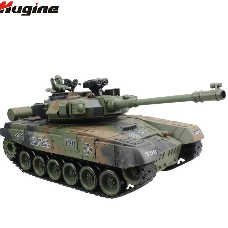 RC Tank Russian T-90 Main Battle Tank 15 Channel 1/20 Model With Sound and Shoot Bullet Recoil Effect Tank Model Electronic Toy