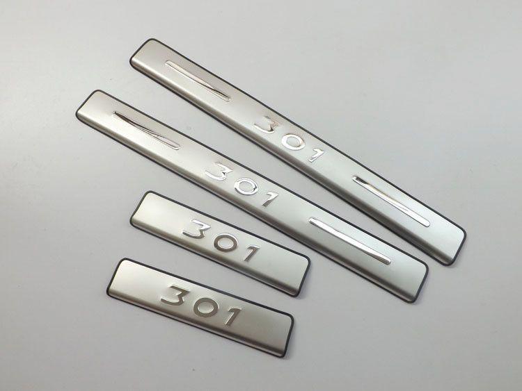 Plaque de seuil/seuil de porte en acier inoxydable de haute qualité pour 2013 2014 Peugeot 301