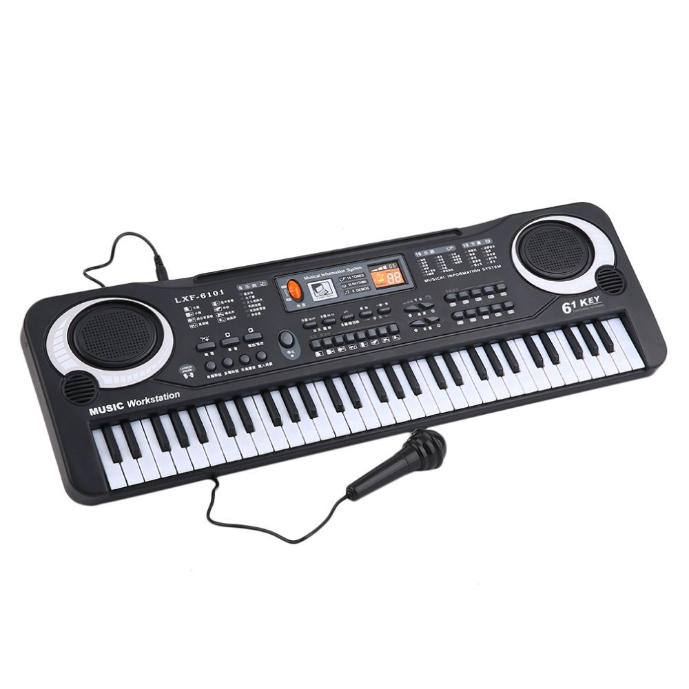61 Keys Music Electronic Digital Keyboard Electric Organ Children Great Gifts With Microphone Musical Instrument