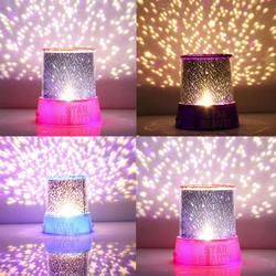 Hot Romantic Amazing Cosmos Moon Colorful Master Star Sky Universal Night Light Kid Chidren Projector lamp Festival Gift Present