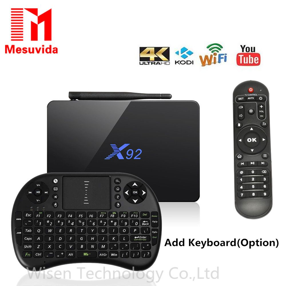 X92 2GB/3GB 16GB/32GB Android 6.0 TV Box Amlogic S912 Octa Core KD Media Player 5G Wifi Bluetooth4.0 4K Smart X92 Set Top Box
