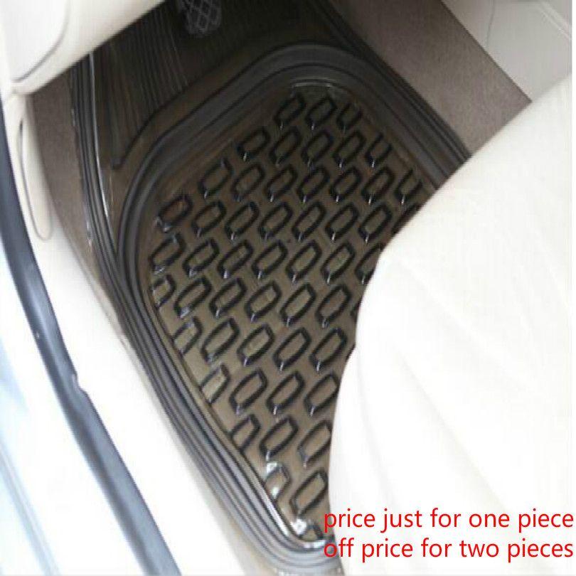 PVC siège conducteur auxiliaire siège conducteur universel 64*47cm tapis de sol de voiture tapis de voiture tapis de voiture noir Transparent livraison gratuite