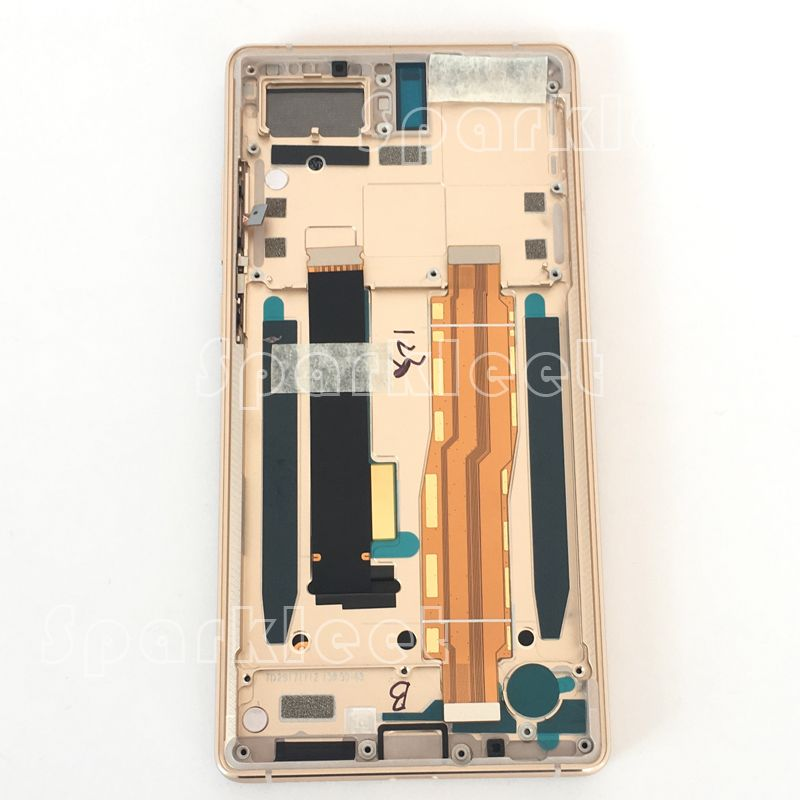 LCD with Frame For Nubia Z17S NX595J LCD Display Touch Screen Digitizer Assembly +volume power buttons motherboard flex cable