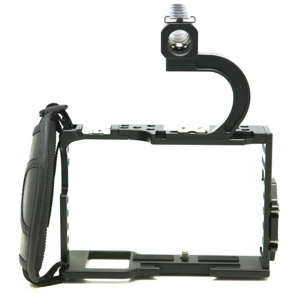F14144 Professionelle Griff Grip Robuste Käfig Combo Schutzhülle Gehäuse Fall für A7, A7r, A7s, DSLR Rig Digital Kamera FS