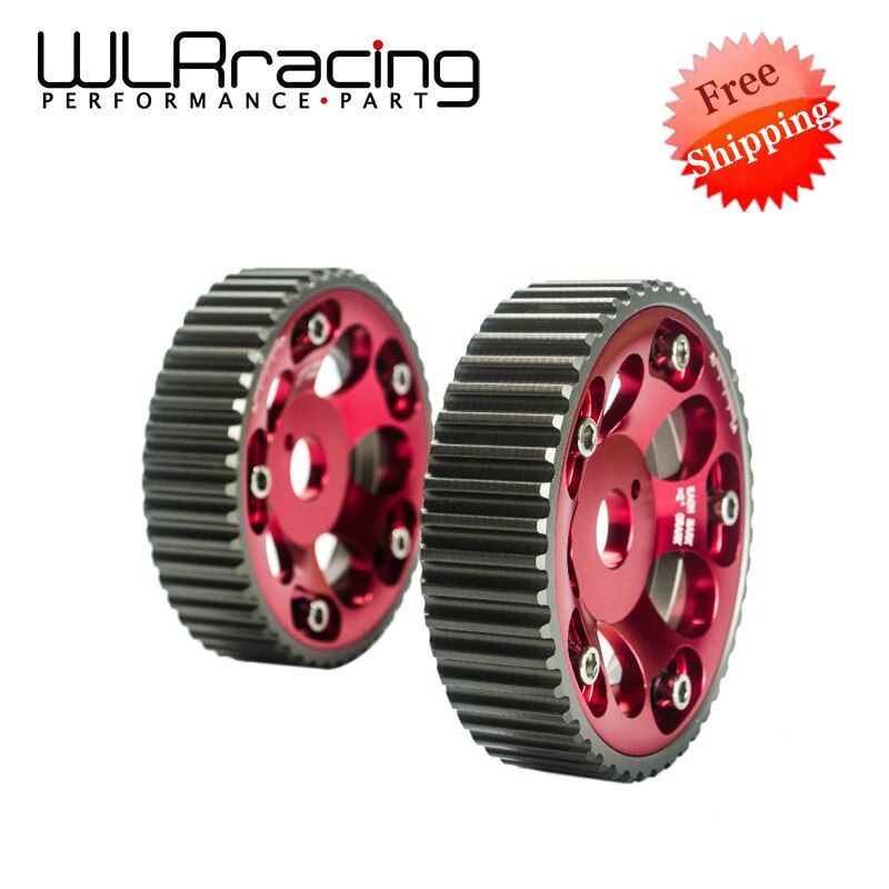 WLR RACING - FREE SHIPPING (1Pair)FOR Toyota 1JZ 2JZ DOHC Engine Adjustable Aluminum Pulley Cam Gear Red WLR6531R